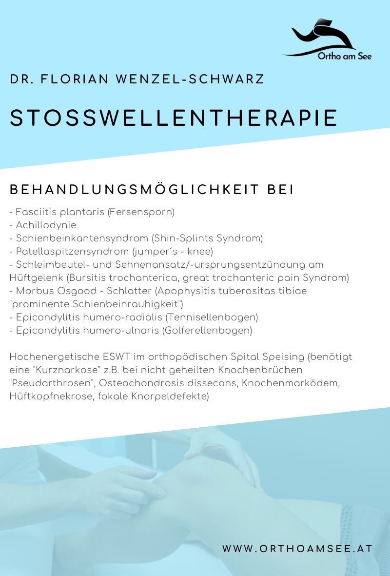 Behandlungsmöglichkeiten der Stosswellentherapie von Dr. Florian Wenzel-Schwarz